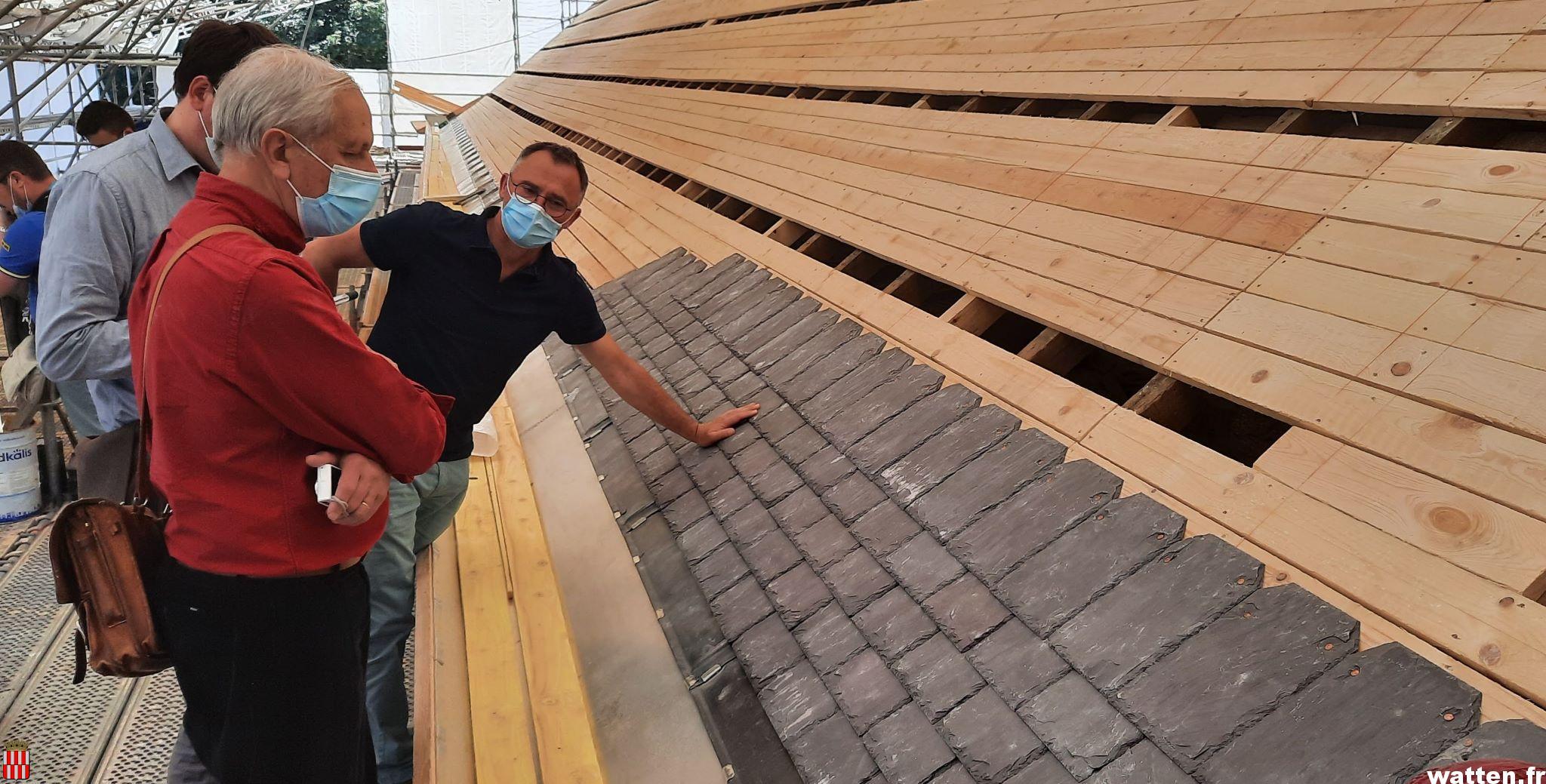 Travaux de rénovation de la toiture de l'église