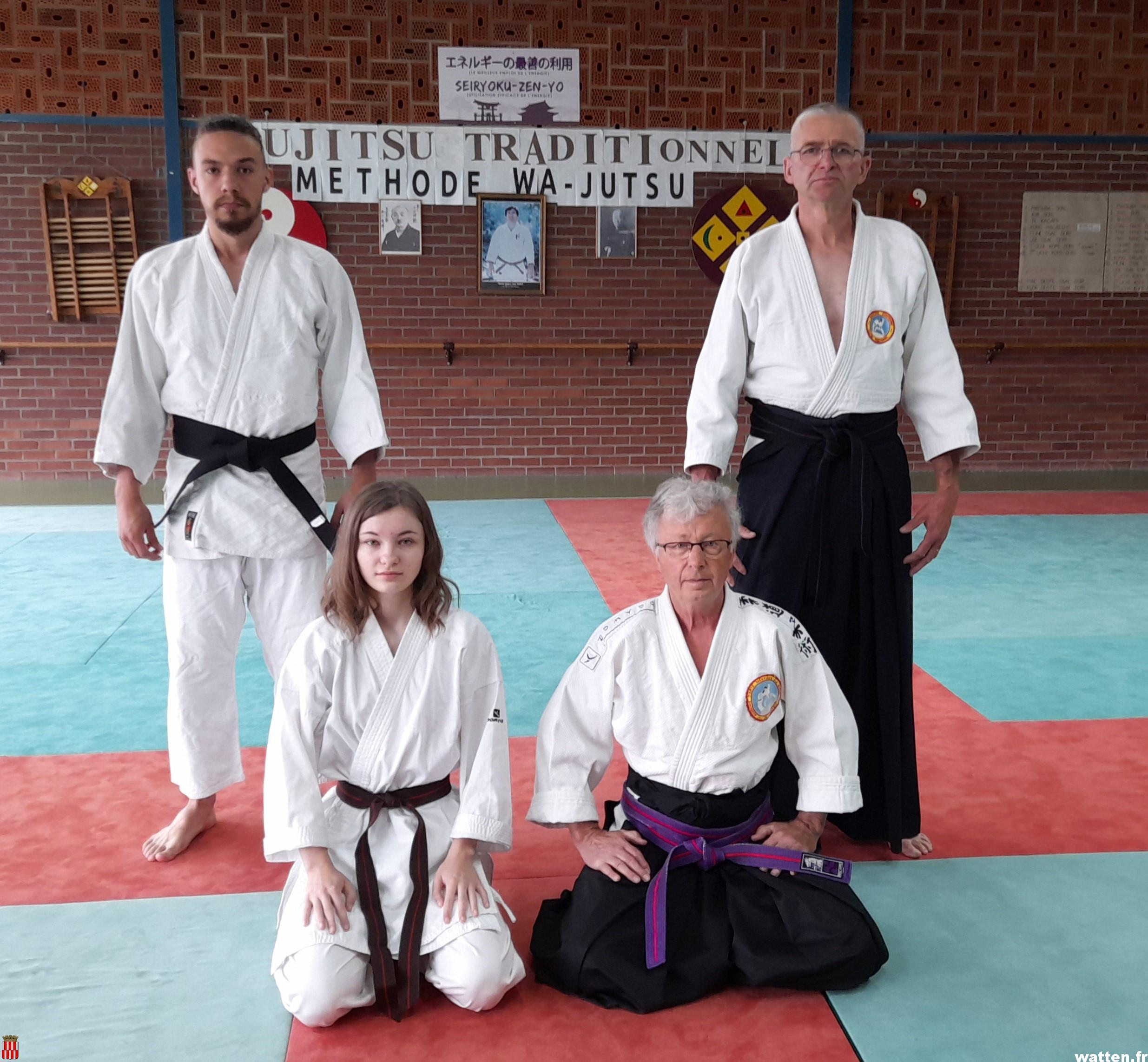 Nouveaux grades au club de jujitsu traditionnel